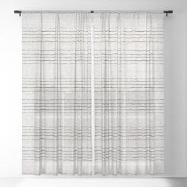 LINEN STRIPE RUSTIC Sheer Curtain