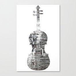 Storied violin.  Canvas Print