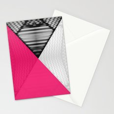 Black White and Bright Pink Stationery Cards