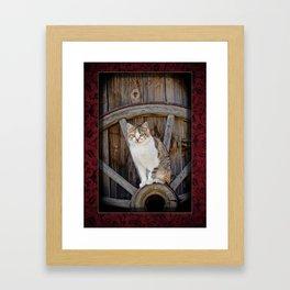 Rustic Ruby Framed Art Print