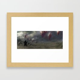 The land of the floating crystals Framed Art Print