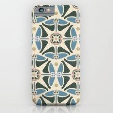 Blue Tulips - Circle Pattern iPhone 6s Slim Case