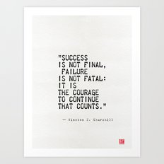 Churchill's quote Art Print