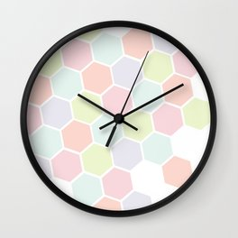 Pastel Buzz Wall Clock