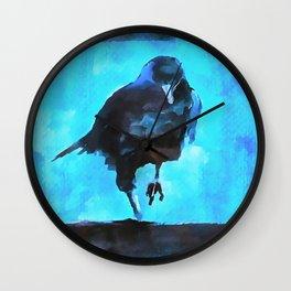 Creepy Crow Wall Clock