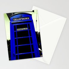 Telephone Booth (blue) Stationery Cards