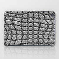 gray pattern iPad Cases featuring Gray Pepples Pattern by Pia Schneider [atelier COLOUR-VISION]