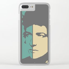 Bob Dylan Retro Homage Clear iPhone Case