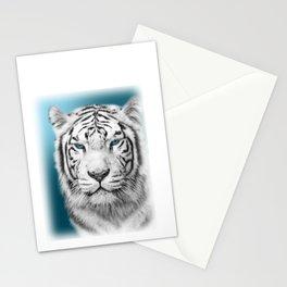 Blue Eyed White Tiger Stationery Cards