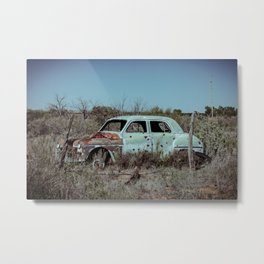Abandoned Classic Car along old Route 66 in Bard New Mexico Metal Print