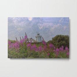 Purple flowers with Cromer  Metal Print
