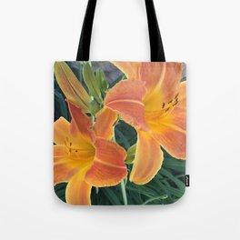 Garden Blooms - Orange Tote Bag