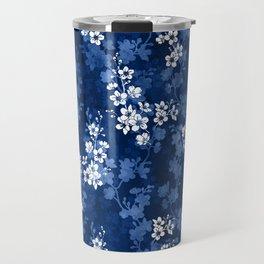 Sakura blossom in deep blue Travel Mug