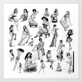 Pin Up Girls Art Print