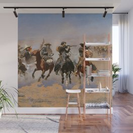 A Dash for the Timber - Frederic Remington Wall Mural