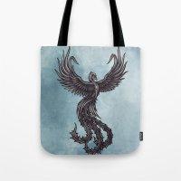 phoenix Tote Bags featuring Phoenix by Texnotropio