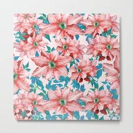 Myra #floral #pattern #digitalart Metal Print