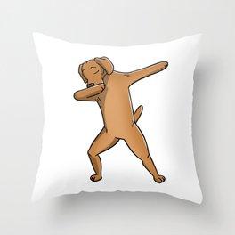 Funny Dabbing Vizsla Dog Dab Dance Throw Pillow