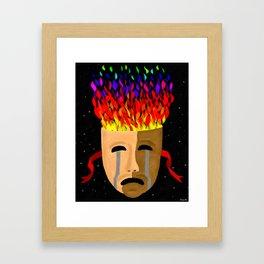 The Color of Tragedy Framed Art Print