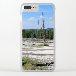 Yellowstone Geysers Clear iPhone Case