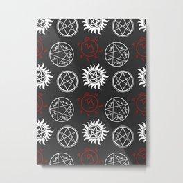 Symbols Pattern Metal Print