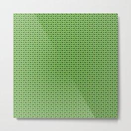 Dog and Bone - Schnauzer mini green Metal Print