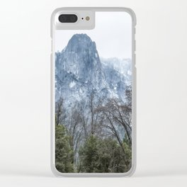 Sentinel Rock, Mist and Trees Clear iPhone Case