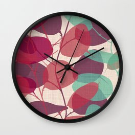 Lunaria purple Wall Clock