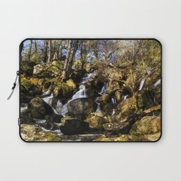 Becky Falls with texture Laptop Sleeve