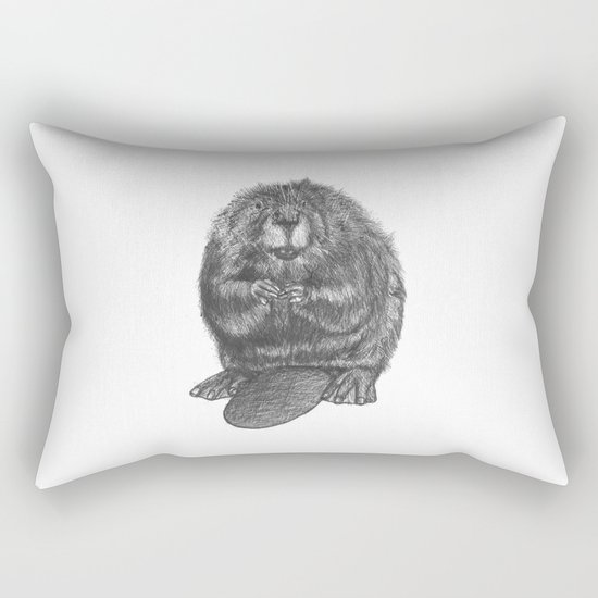 Beaver Rectangular Pillow
