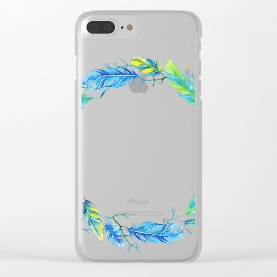 Feathers Crown 01 Clear iPhone Case