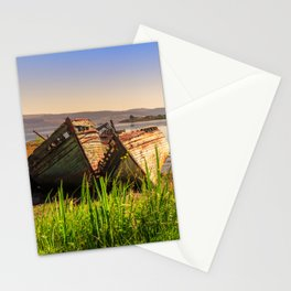 Old fishing boats Stationery Cards