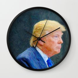 Portrait  of President Donald Trump Wall Clock