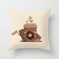 Caffeinated Love Throw Pillow