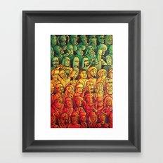 Lazer Light Show Framed Art Print