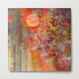 Orange Glow Landscape Metal Print