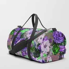 PARROTS Magnolias Hydrangeas Tropical Flower Pattern Duffle Bag