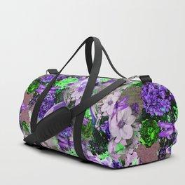 PARROTS Magnolias Hydrangeas Tropical Flower Pattern Duffle Bag