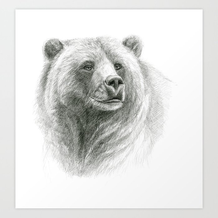 Grizzly Bear G2012-057 Art Print by s-schukina | Society6
