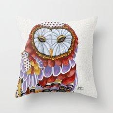 Owl Aura 2 Throw Pillow