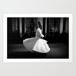 The Whirling Dervish of Turkey Art Print