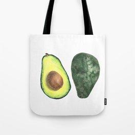 watercolor avocado Tote Bag