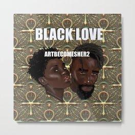 BLACK LOVE - ANKH ANKARA Metal Print