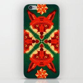 Fox Cross geometric pattern iPhone Skin