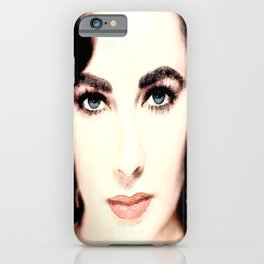 Elizabeth Taylor Face iPhone Case
