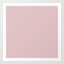 Bridal Rose and White Polka Dots Art Print