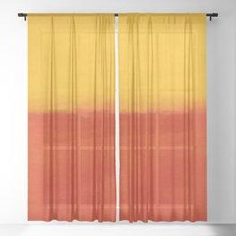 1956 Orange and Yellow by Mark Rothko HD Sheer Curtain