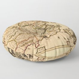 Map of China (c 1700-1709) Floor Pillow