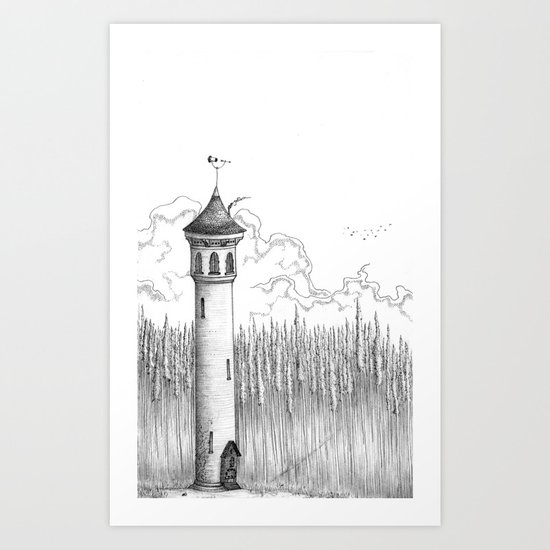 Tall Tower Art Print