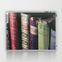 Vintage low light photography of books Laptop & iPad Skin